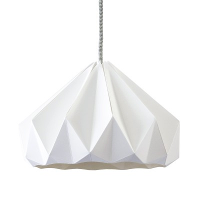 Suspension origami en papier Chestnut blanc Snowpuppe