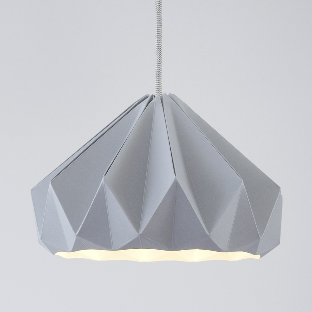 Suspension origami en papier Chestnut gris Snowpuppe