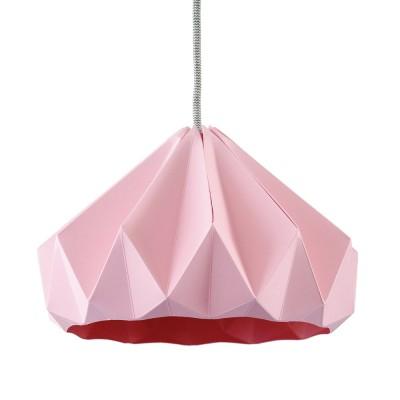 Origami hanger in roze kastanjepapier Snowpuppe