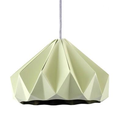 Origami hanglamp in groen kastanjepapier Snowpuppe