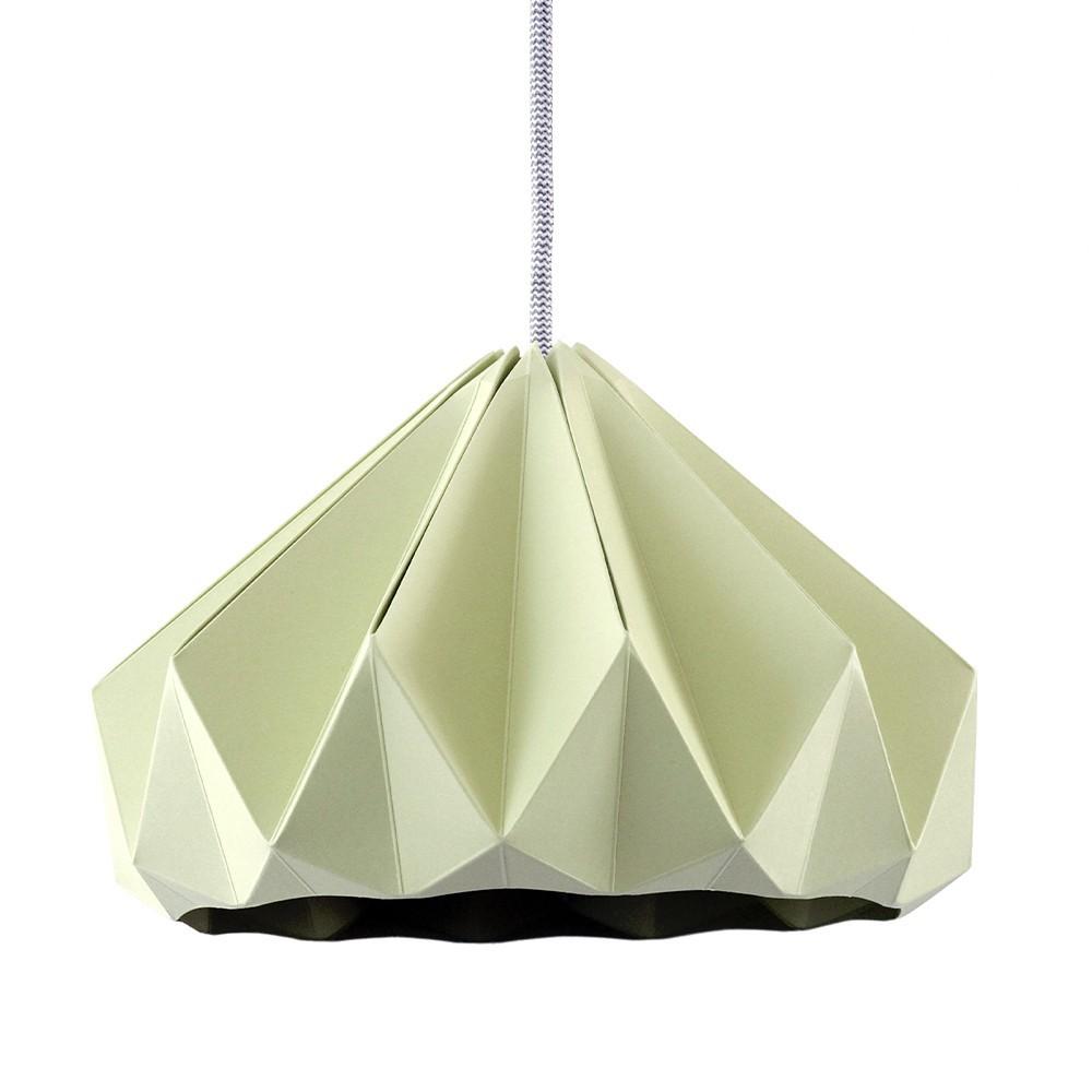 Chestnut paper origami lampshade autumn green Snowpuppe