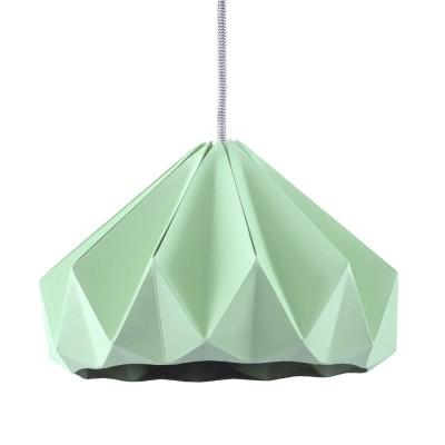 Origami hanglamp in mintgroen kastanjepapier Snowpuppe