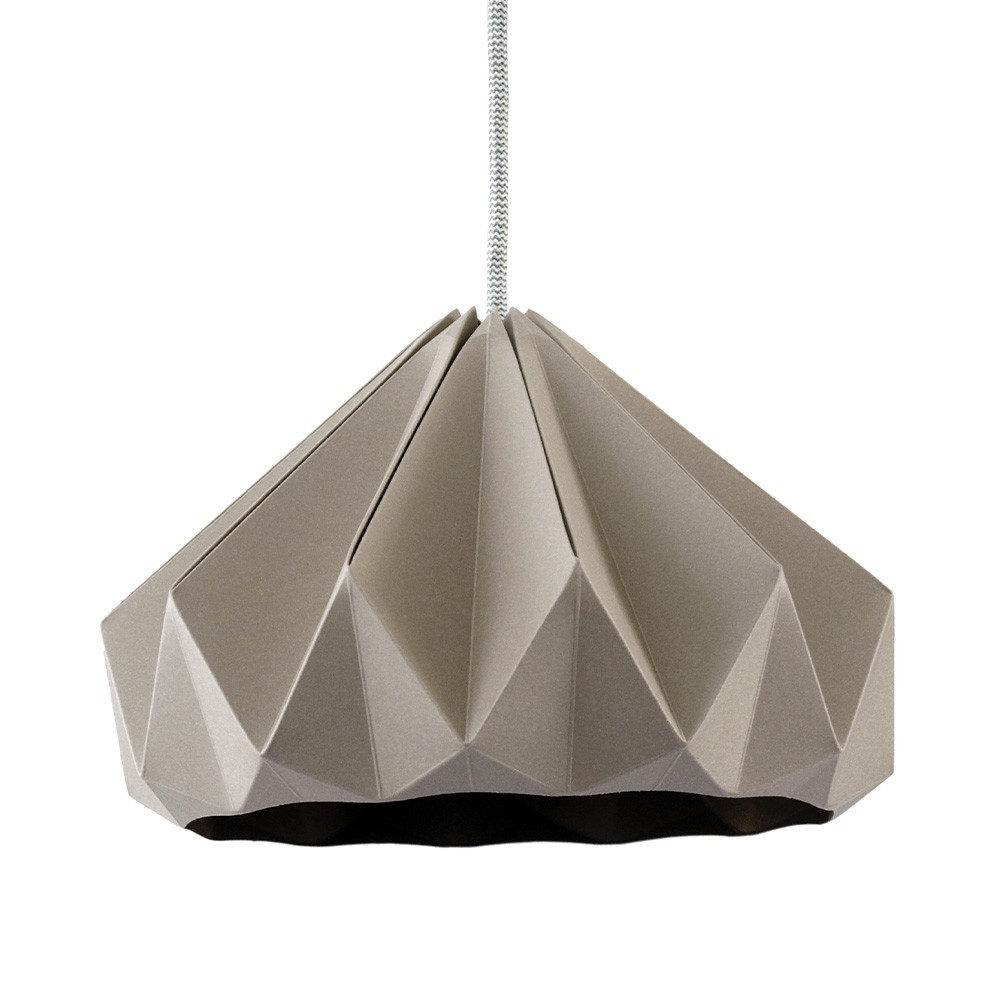 Chestnut paper origami lampshade brown Snowpuppe