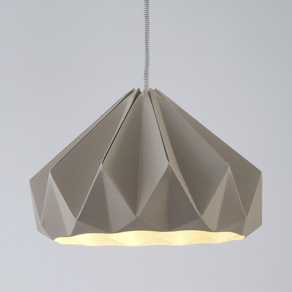 Suspension origami en papier Chestnut marron Snowpuppe