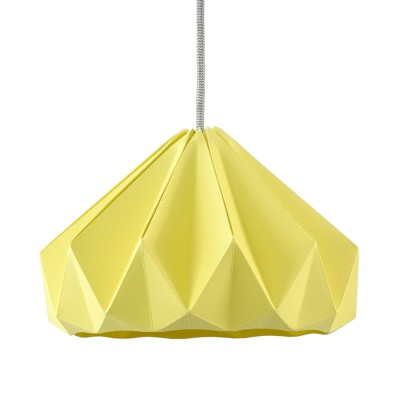 Chestnut paper origami lampshade autumn yellow Snowpuppe