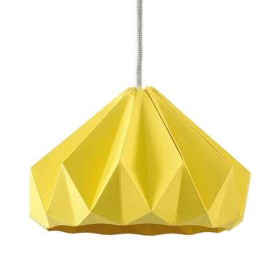 Suspension origami en papier Chestnut jaune doré