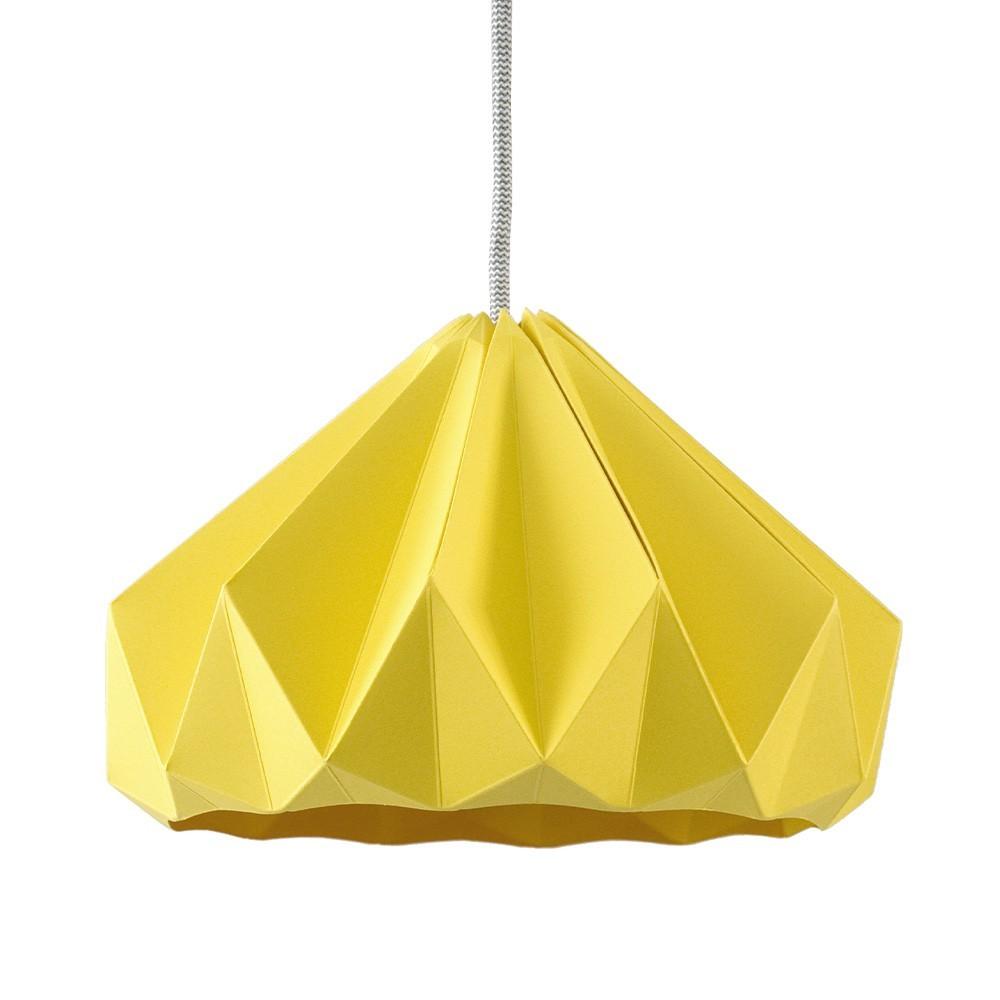 Origami hanger in goudgeel kastanjepapier Snowpuppe