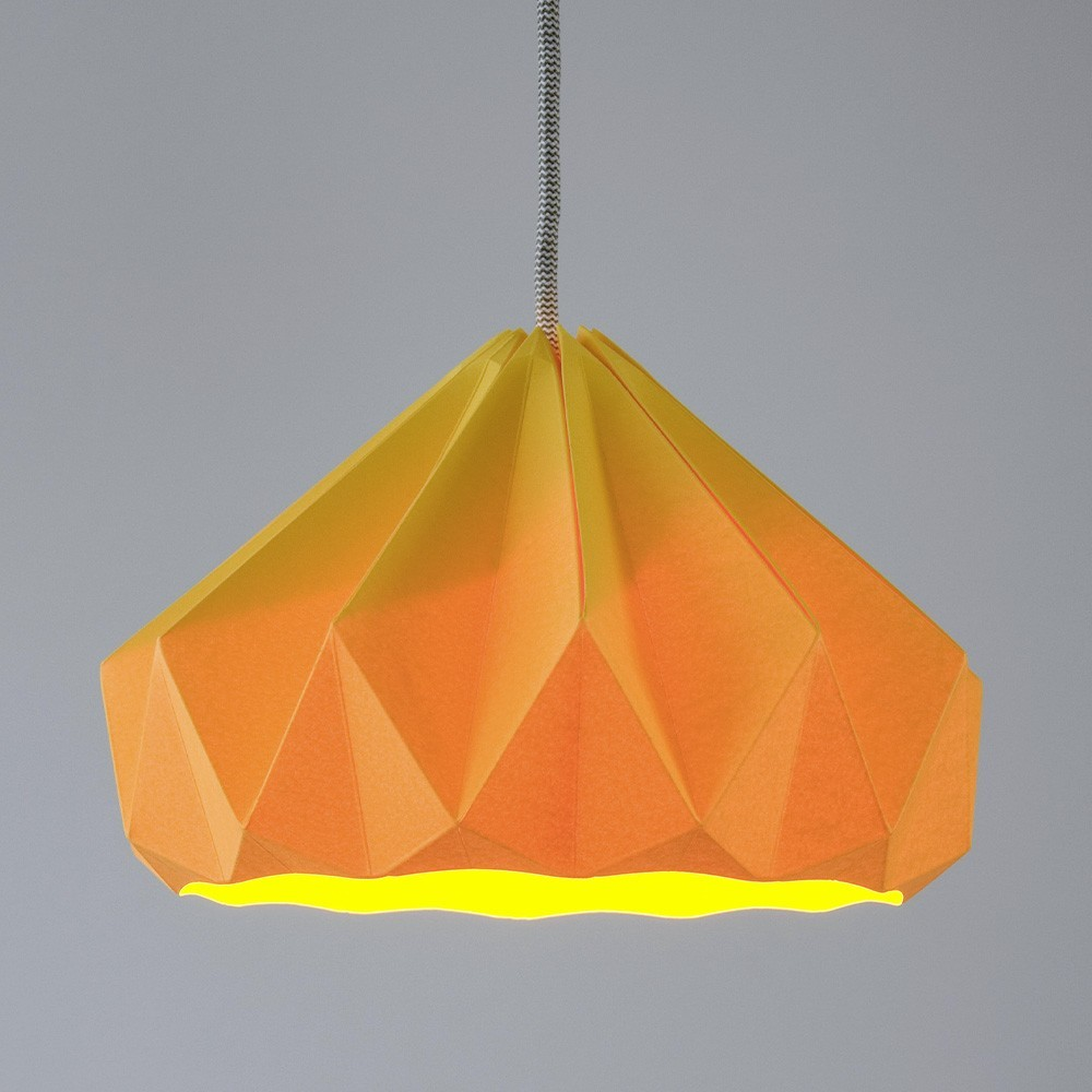Suspension origami en papier Chestnut jaune doré Snowpuppe