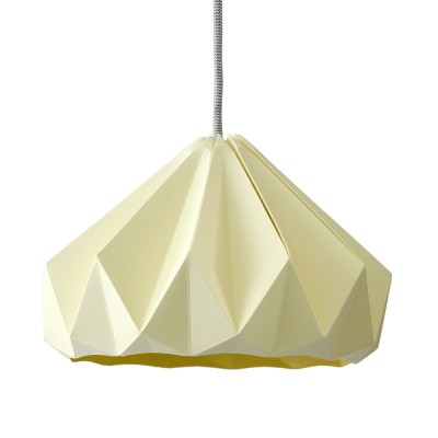 Chestnut paper origami lampshade canary yellow Snowpuppe