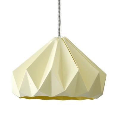 Suspension origami en papier Chestnut jaune canari