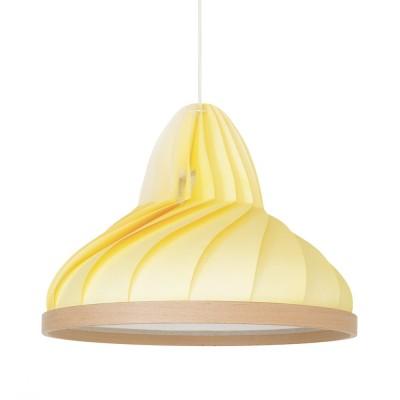 Suspension Wave jaune pastel Snowpuppe