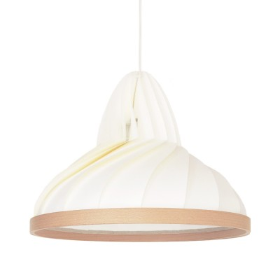 Wave pendant lamp white Snowpuppe