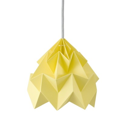 Moth paper origami lamp autumn yellow Snowpuppe