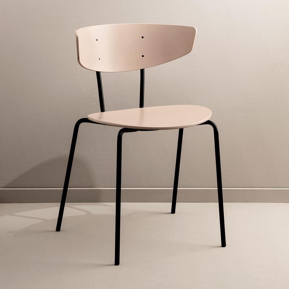 Set of 2 Herman chairs dark grey Ferm Living