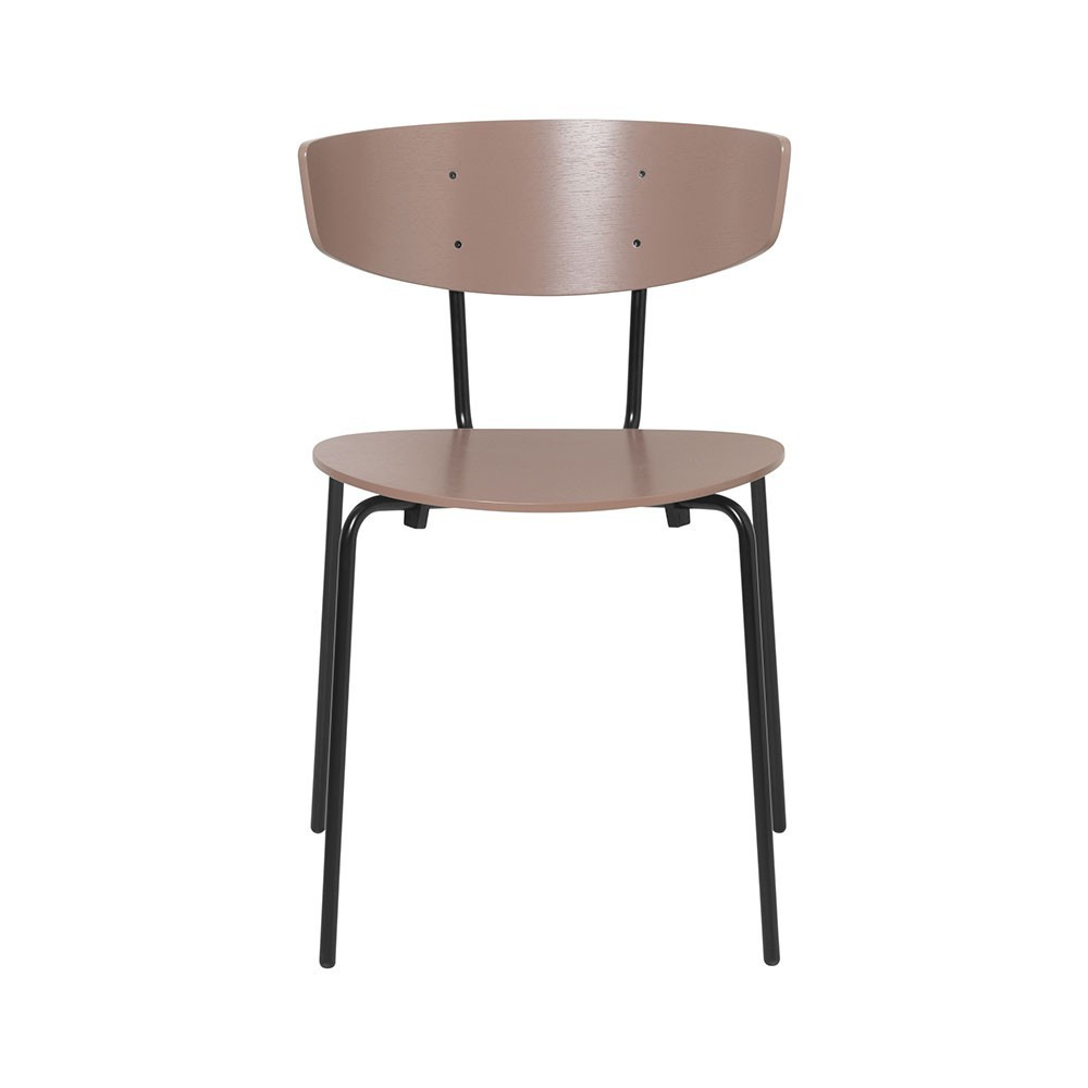 Set of 2 Herman chairs dark pink Ferm Living