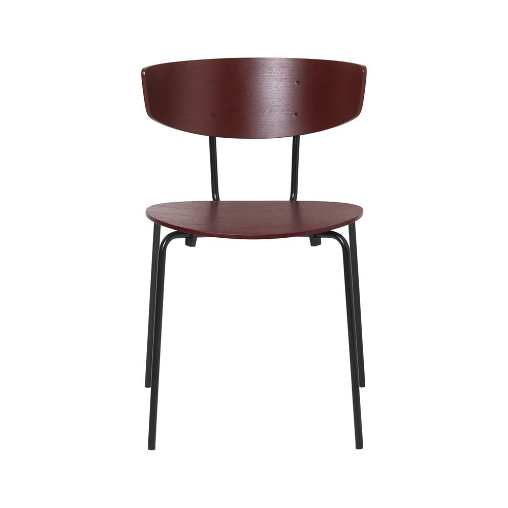 Set of 2 Herman chairs red brown Ferm Living