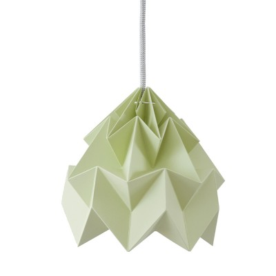 Moth paper origami lamp autumn green Snowpuppe