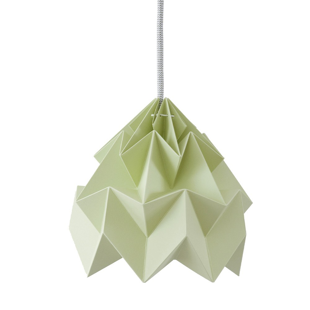 Suspension origami en papier Moth vert automne Snowpuppe