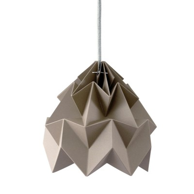 Moth paper origami lamp brown Snowpuppe