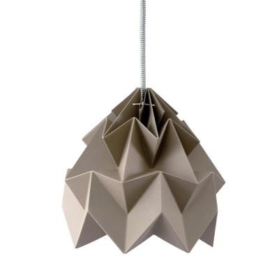 Origami-suspensie in bruin Moth-papier Snowpuppe