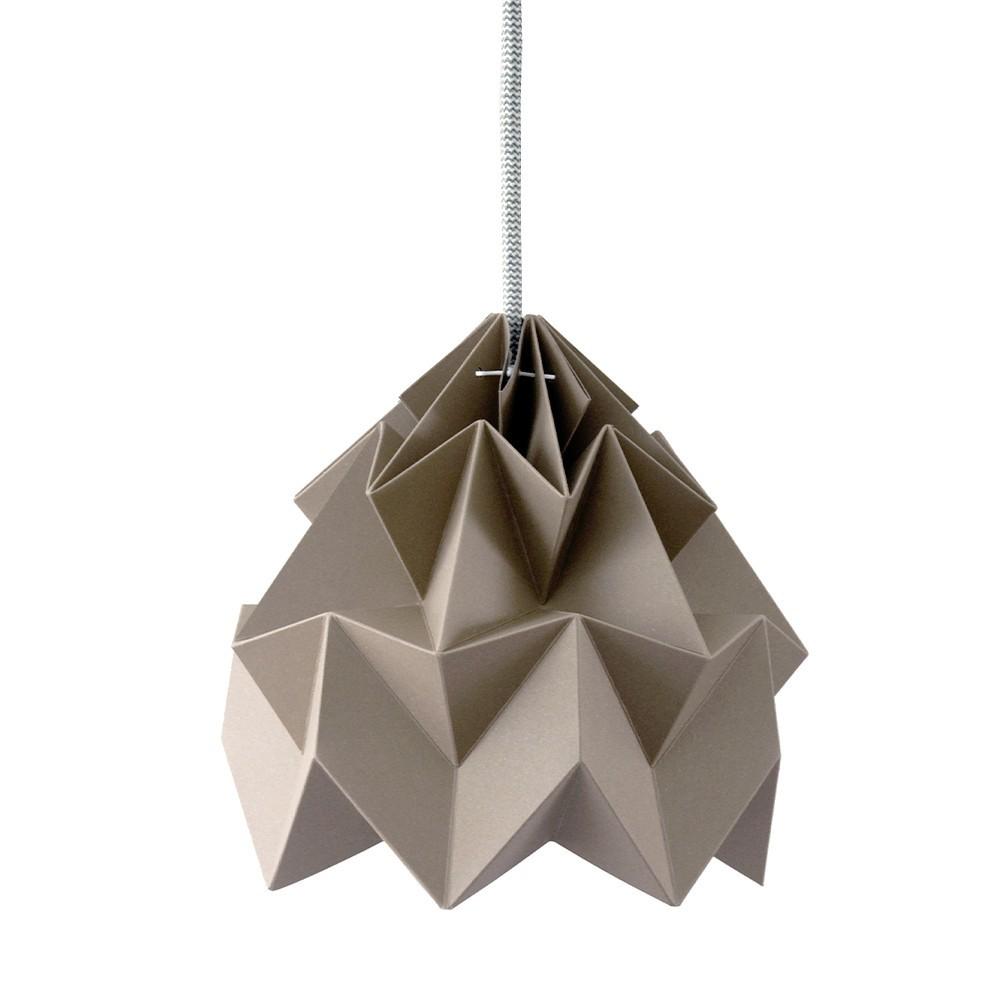 Suspension origami en papier Moth brun Snowpuppe
