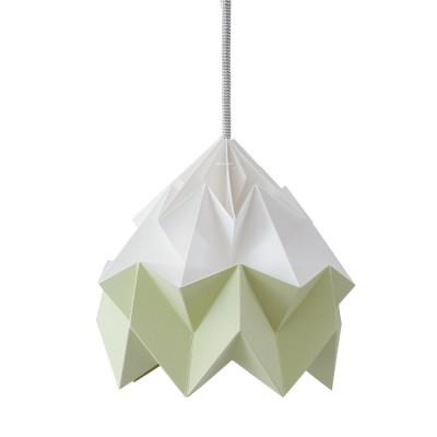 Suspension origami en papier Moth blanc & vert automne Snowpuppe