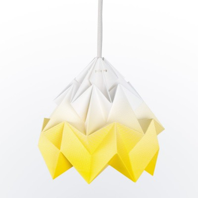 Moth paper origami lamp gradient yellow Snowpuppe