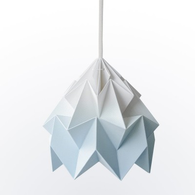 Moth paper origami lamp gradient blue Snowpuppe