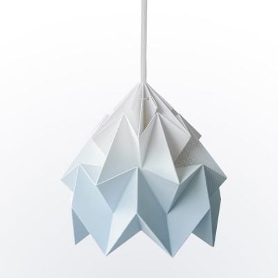 Suspension origami en papier Moth bleu dégradé Snowpuppe