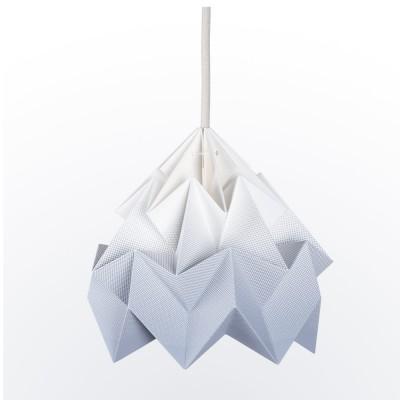 Moth paper origami lamp gradient grey Snowpuppe