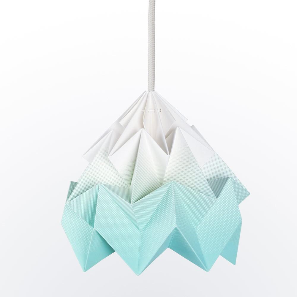 Moth paper origami lamp gradient mint Snowpuppe