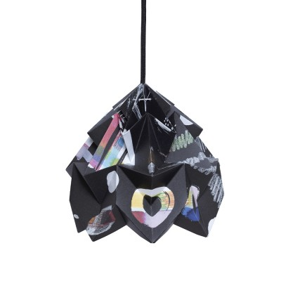 Moth paper origami lamp Night Snowpuppe