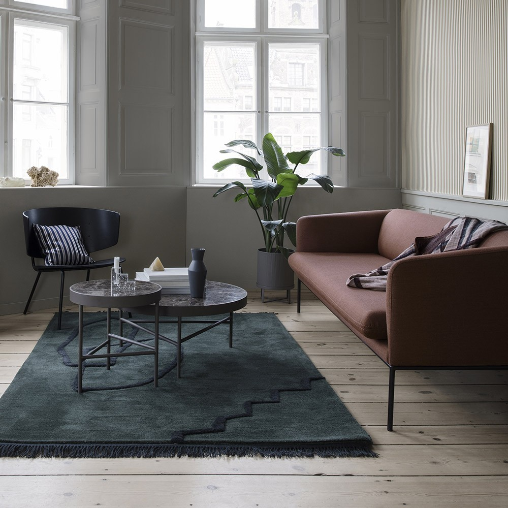 Turn Sofa 3-seater cotton & natural linen Ferm Living