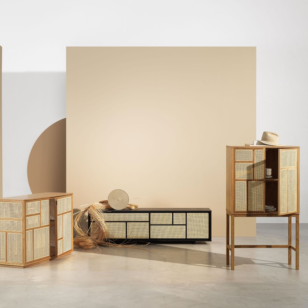 Air cabinet oak & cane Design House Stockholm