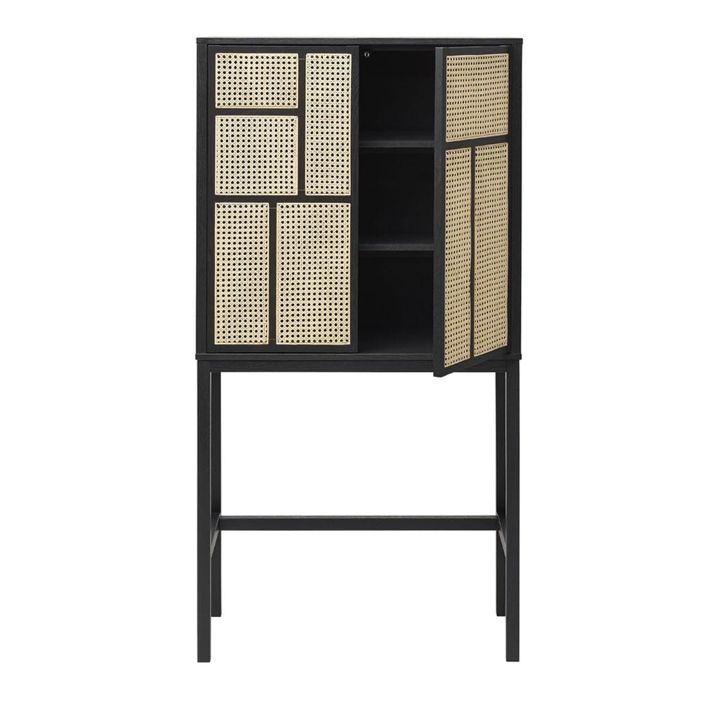 Air cabinet black & cane Design House Stockholm