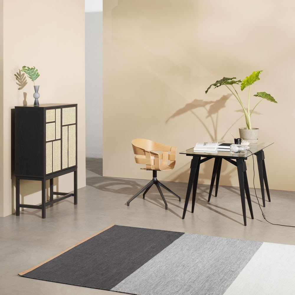 Cabinet Air noir & cannage Design House Stockholm
