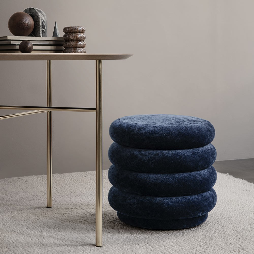 Round pouf S forest Ferm Living