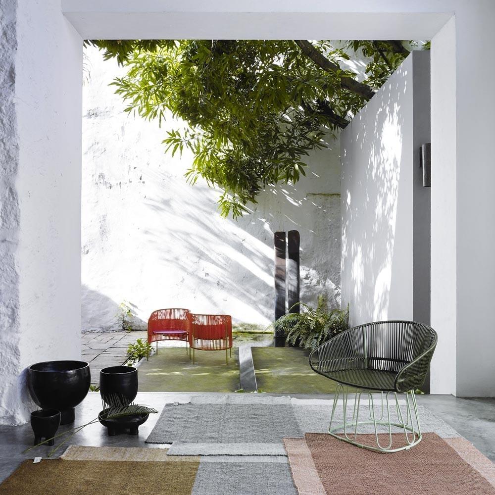 Nobsa rug grey/ochre/cream M ames