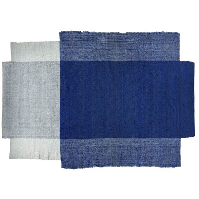 Nobsa vloerkleed blauw / mint / creme L ames