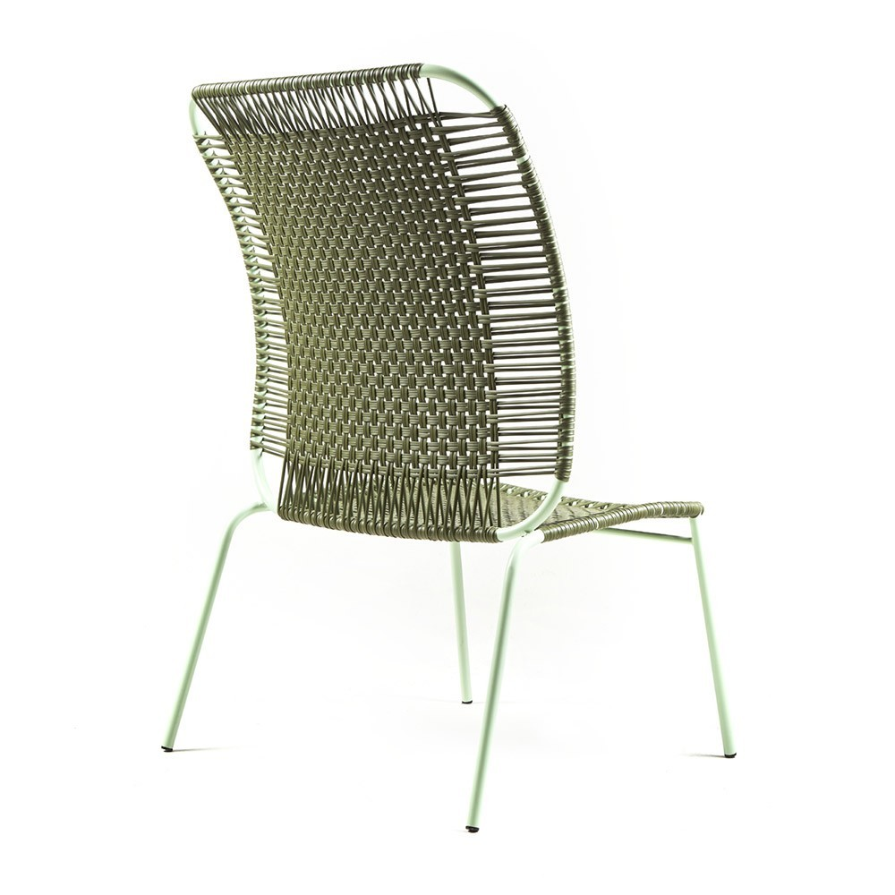 Chaise lounge haute Cielo olive & menthe ames