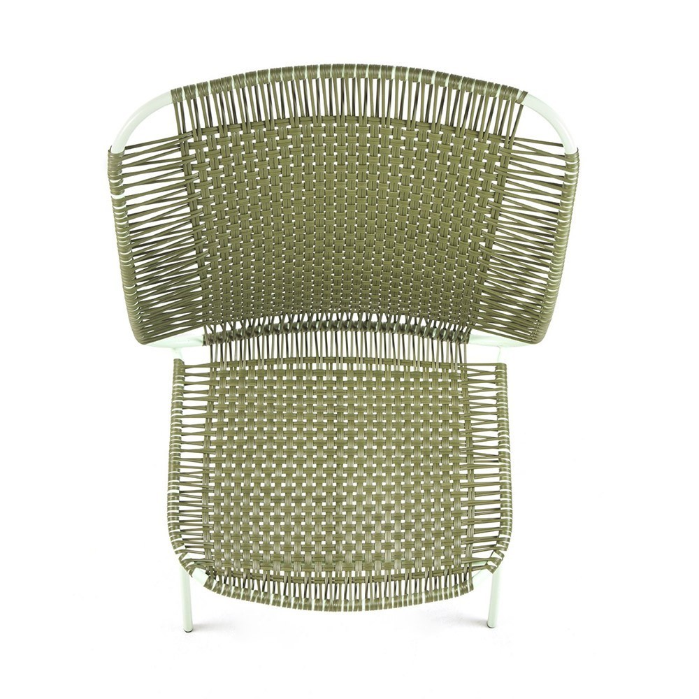 Cielo lounge chair high olive & mint ames