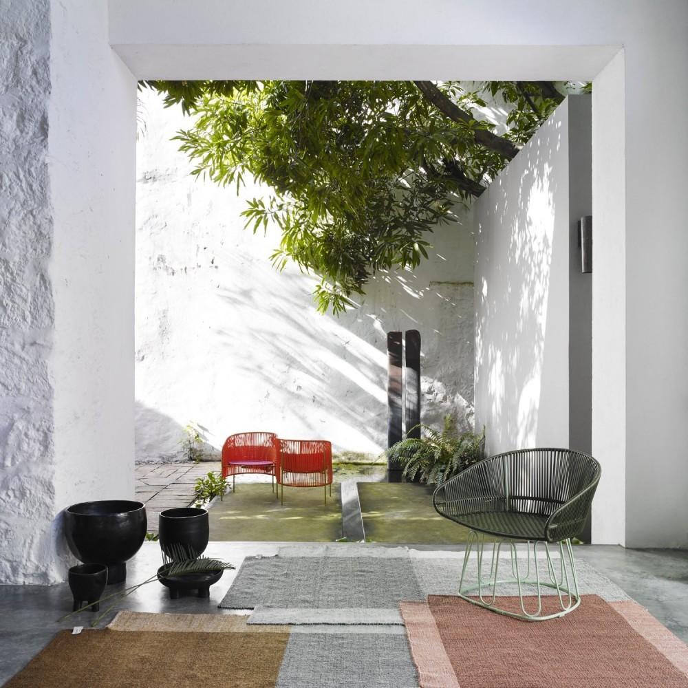 Nobsa rug grey/ochre/cream L ames