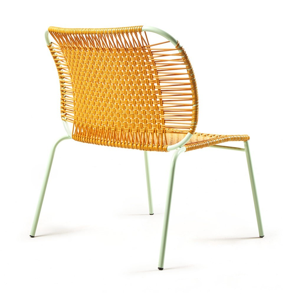 Cielo lounge chair low honey & mint ames