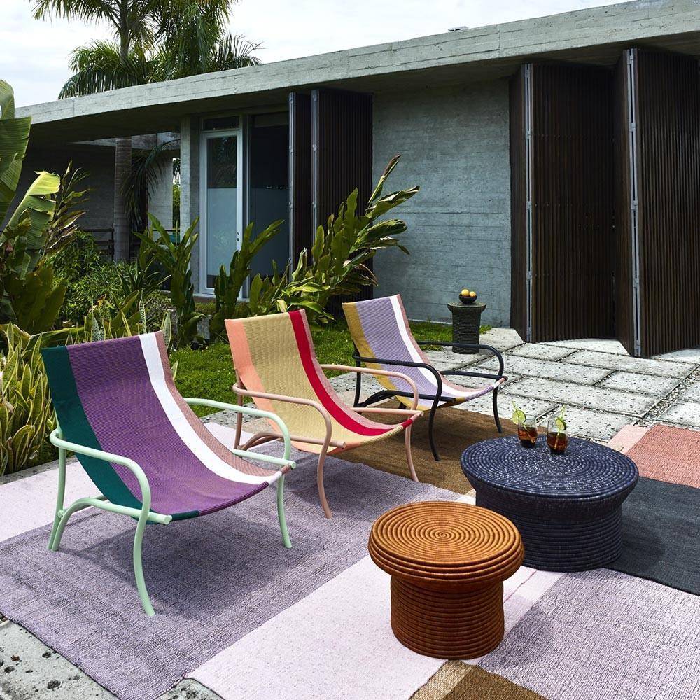 Maraca fauteuil groen / paars / rood & mint ames