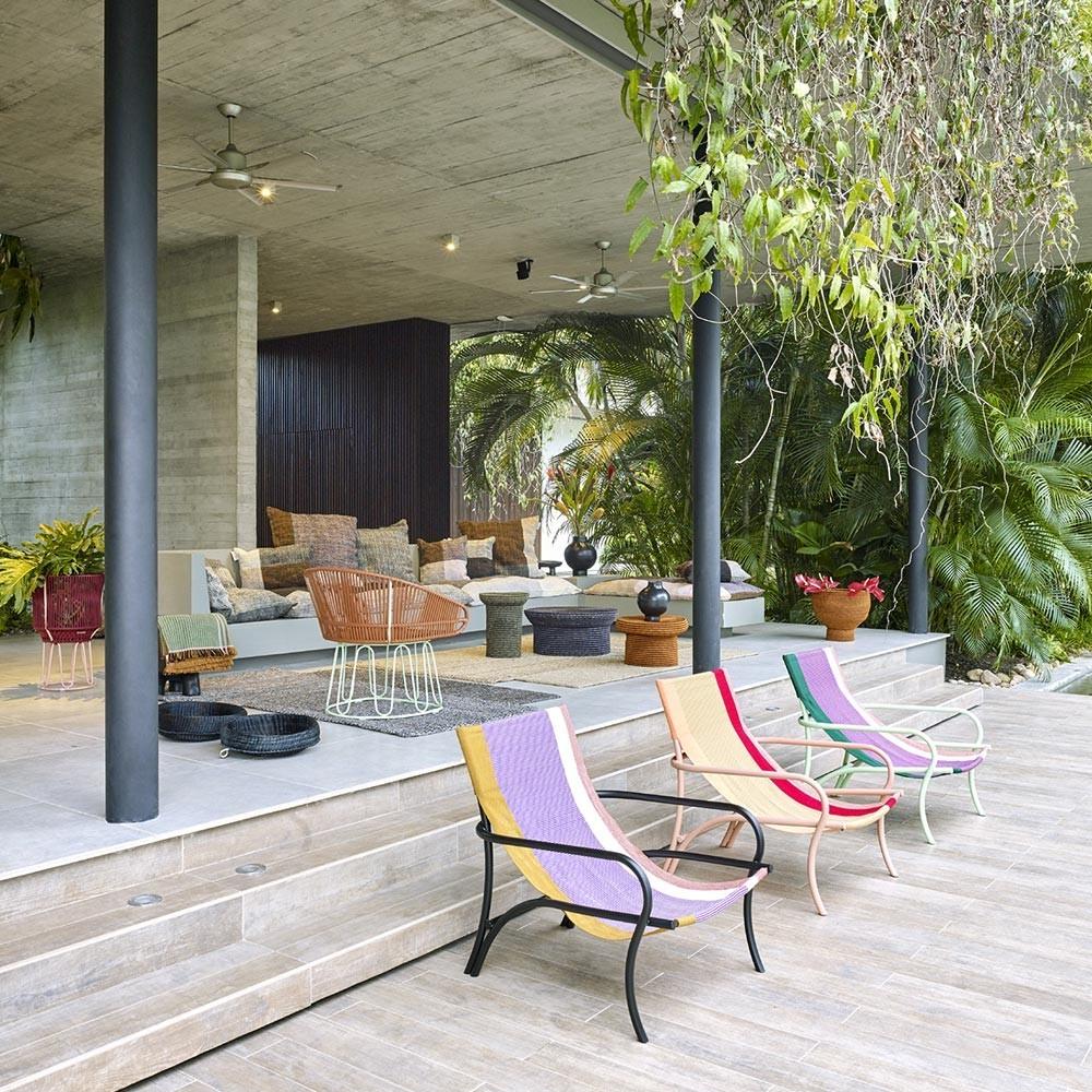 Maraca armchair green/purple/red/mint ames