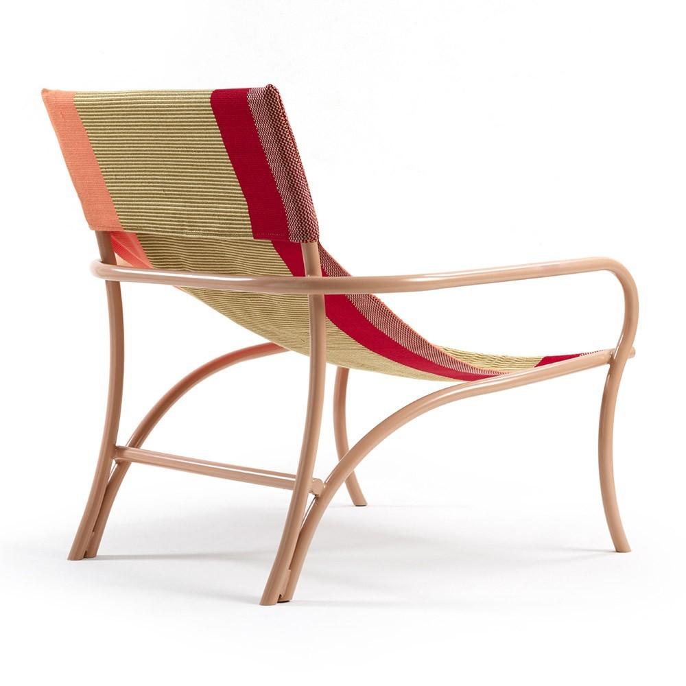 Maraca armchair orange, gold, red & flesh ames