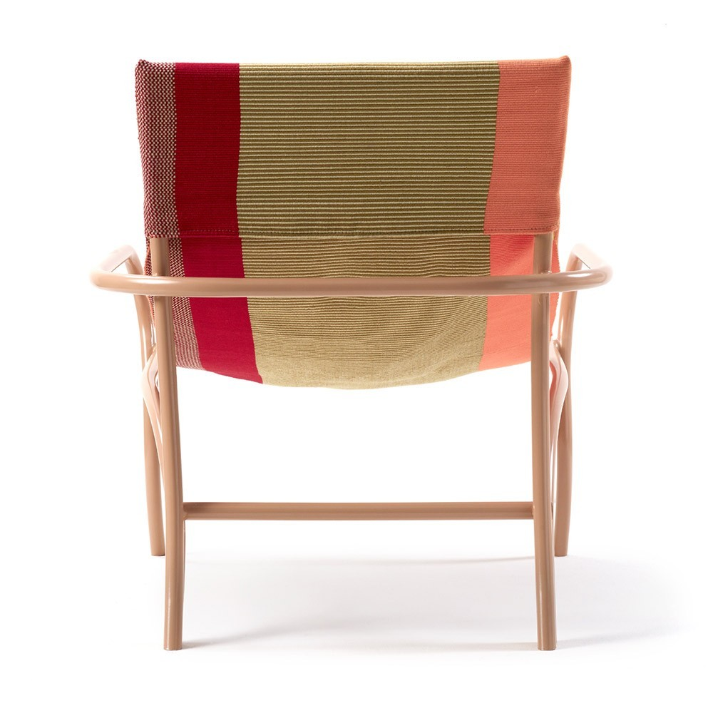Maraca fauteuil oranje, goud, rood & stoel ames