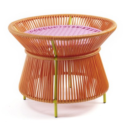 Caribe basket table orange, pink & curry ames