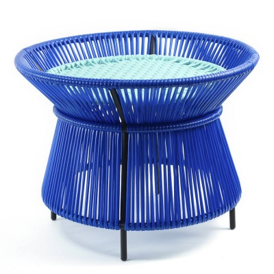 Caribe basket table blue, mint & black ames