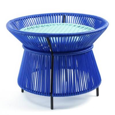Table d'appoint Caribe bleu, menthe & noir ames